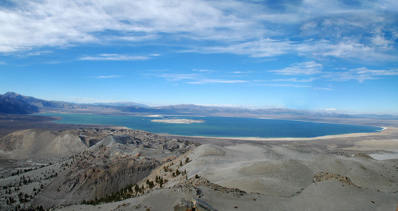 View of Mono Lake to the north. I think that this is one the best places to view Mono Lake from. The lake is about 5 miles from the peak.