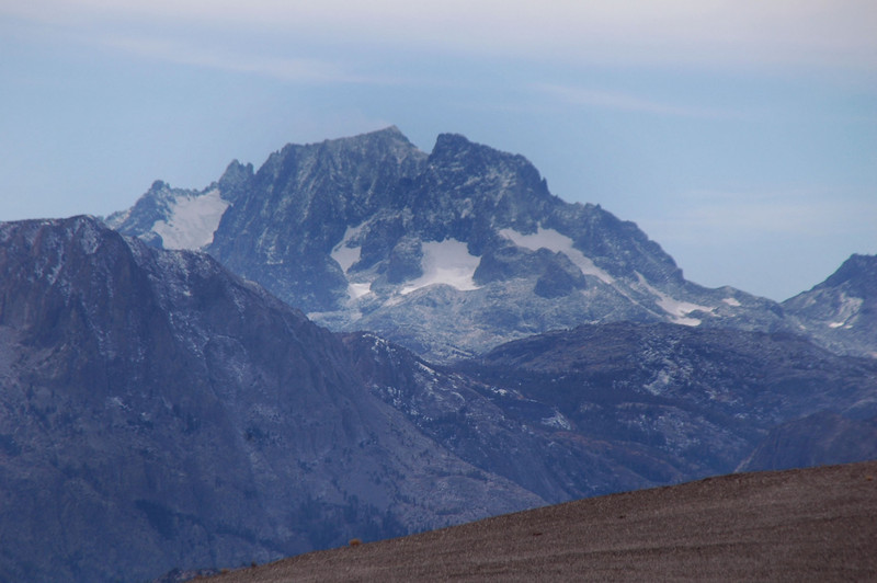 Zoomed in on Mount Ritter and Banner Peak
