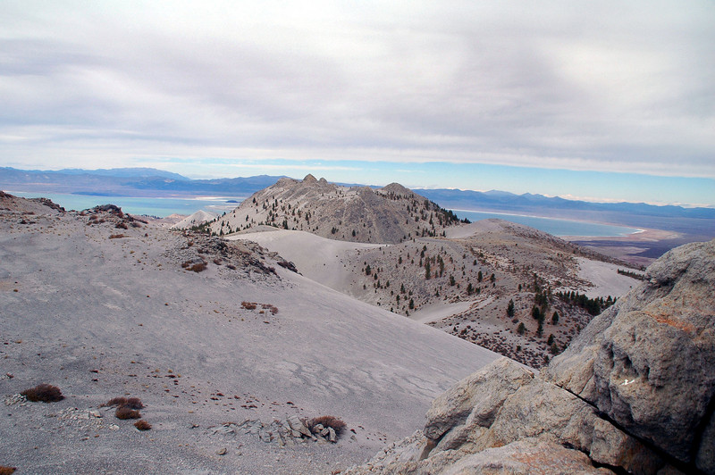 View of Crater Mountain and Mono Lake beyond.
