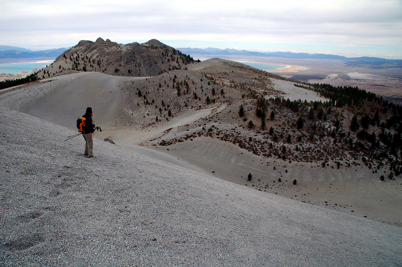 Sooz on the edge of the crater.