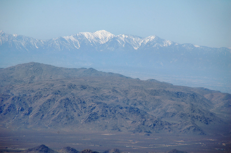 Zoomed in on Mount Baldy.