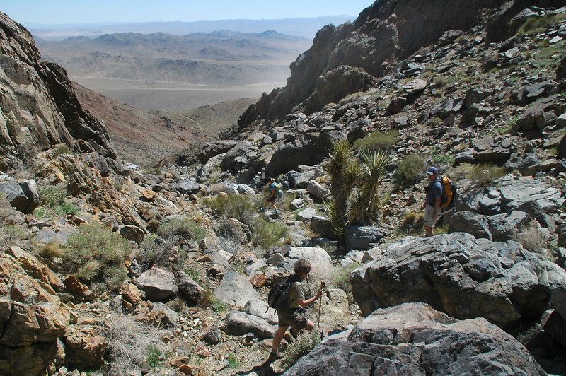 Hiking down the canyon was a good idea, it turned the hike into a loop.
