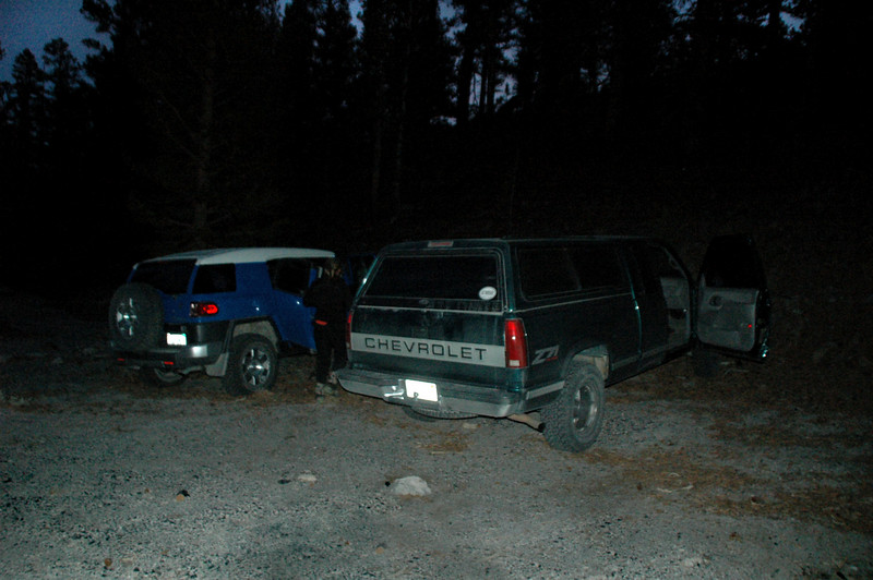 We got back to the trailhead just as it got dark.