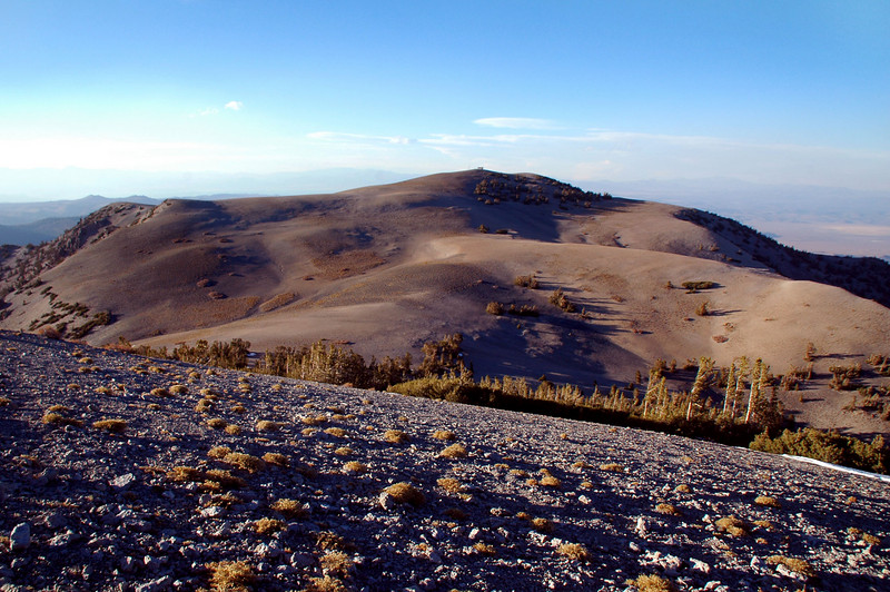 View of Glass Mountain to the west at 11,123 feet.