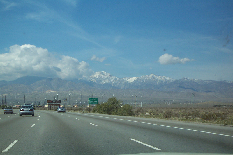 San Gorgonio Mt was also covered in snow.
