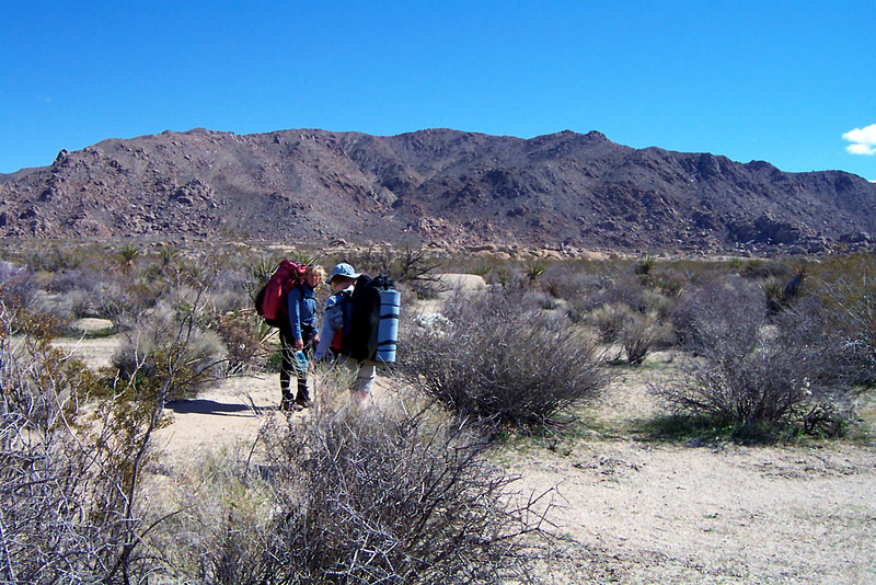 Getting closer to the base of the canyon. We will folow the canyon up to Ealge Mountain.