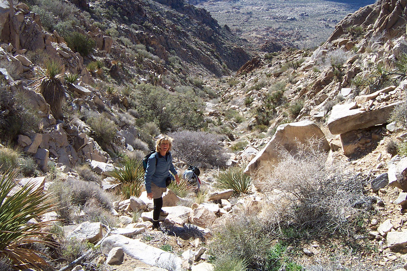 This hike turned out to be easier than we thought it would be. Even though there was no trail, it was easy climbing the rock filled canyon. It only got difficult as we neared the top.