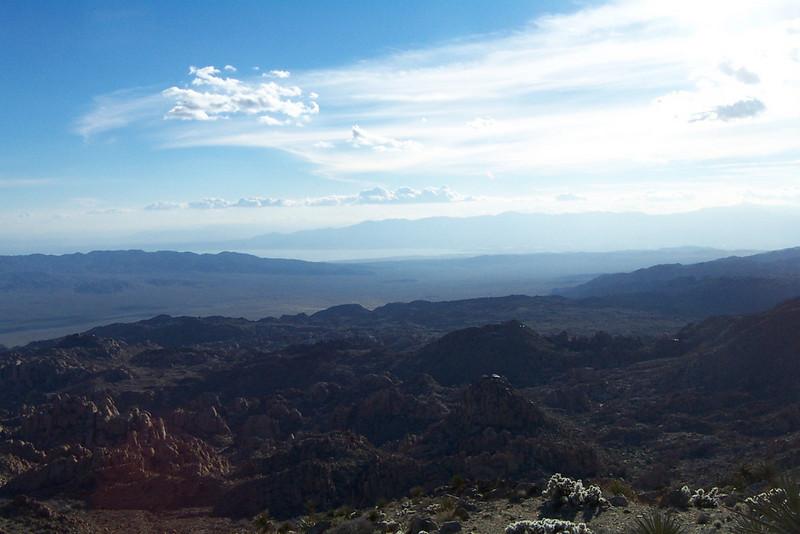 A view of the Salton Sea 20 miles to the southwest.