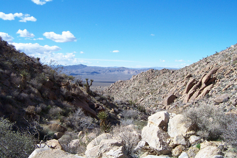 Looking down the canyon, starting to get a view as we gain some altitude.