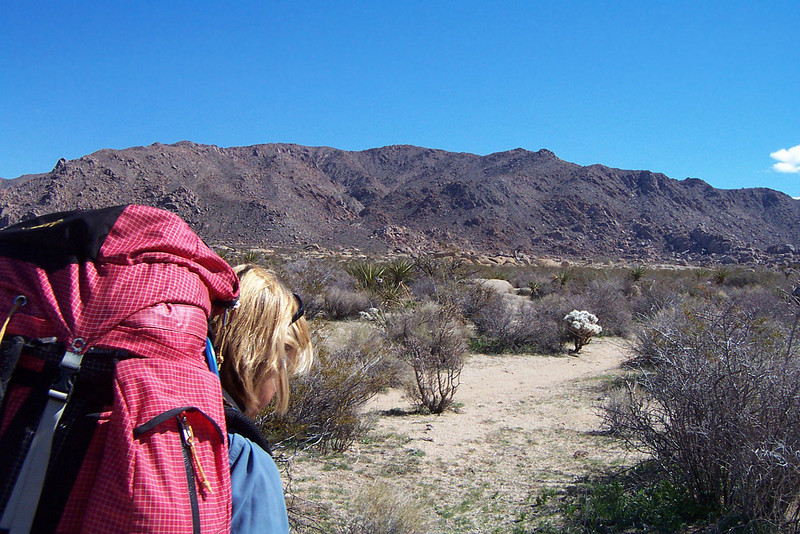 After a couple of miles we left the trail. We headed southeast XC to the base of a canyon, there we will set up our camp.