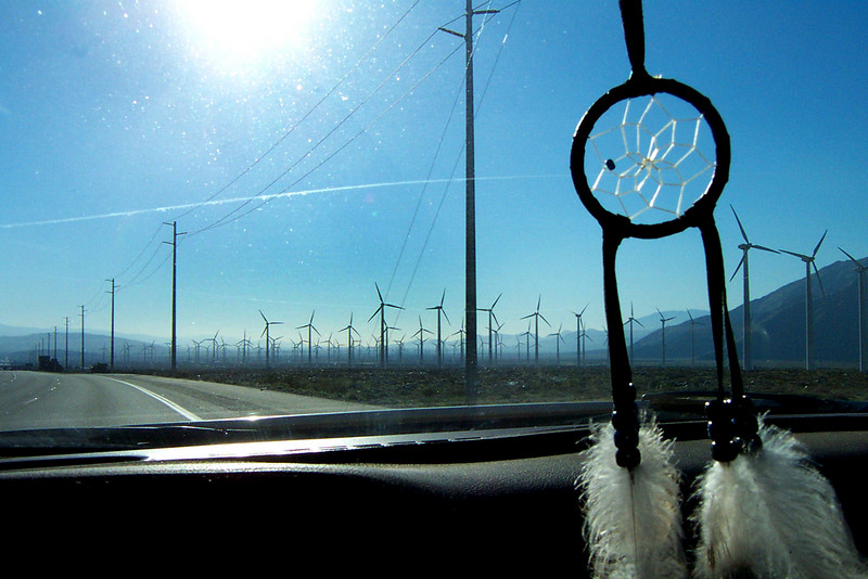 The windmills near Palm Springs. When I see these I know I'm getting there.