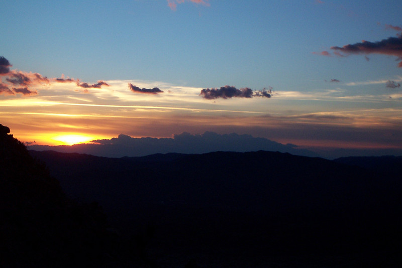 As we neared the bottom of the canyon the sun set.