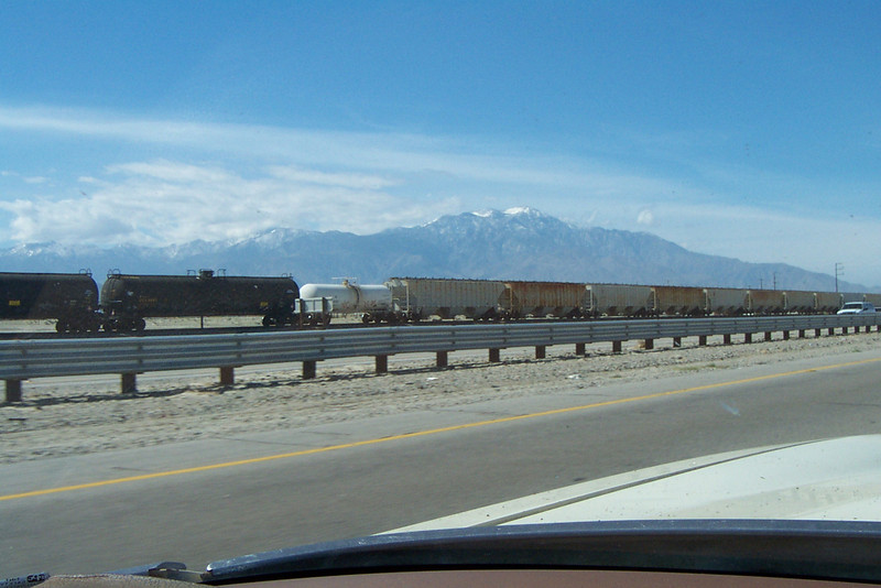 San Jacinto Peak from the 10 Freeway.