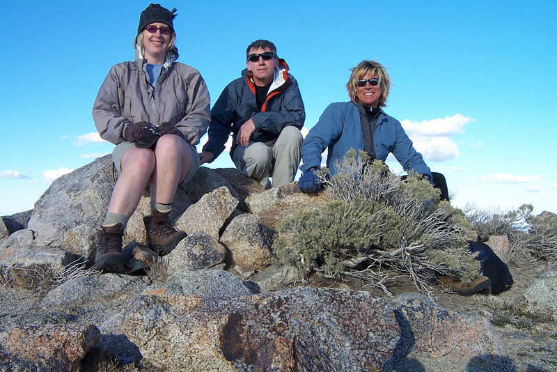 Kathy, me and Sooz on Eagle Mountain 5,350'.