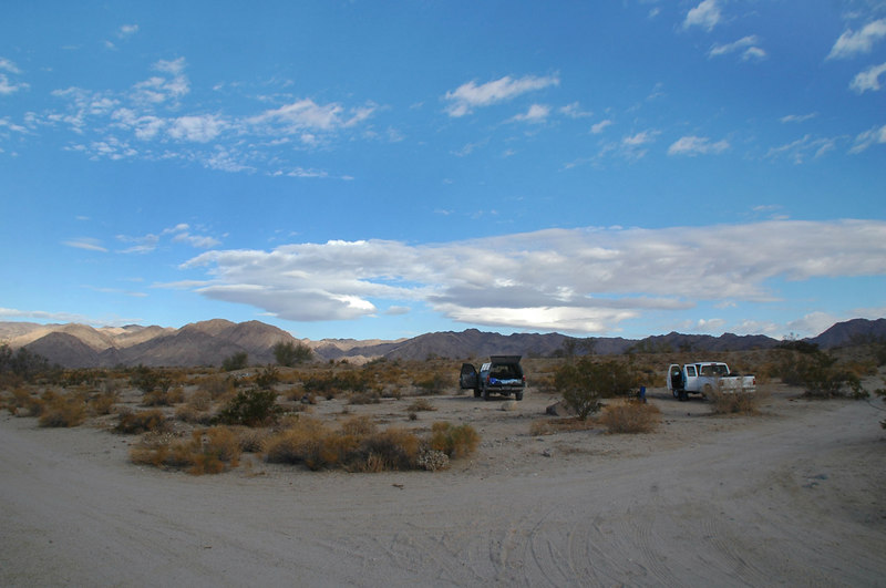 The spot we camped at about a 100 feet outside the park. It's been a few years since I've done any hikes in Joshua Tree.