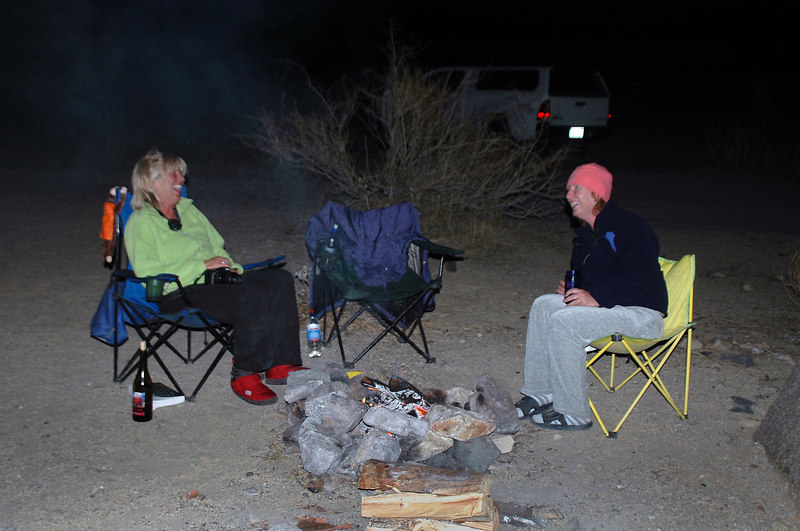 Sooz and I camped just outside the park on BLM land. Kathy stayed for a while before heading home.
