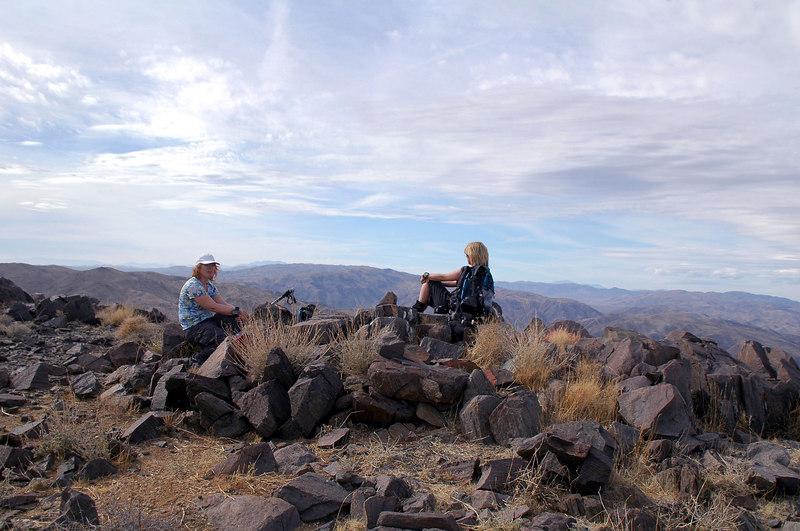 Kathy and Sooz on the peak.