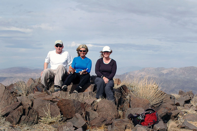 Me, Sooz and Kathy on the top of Mary Peak at 3,820 feet. The hike was 3 miles with a 2,050 foot gain. Most of the gain is in the last mile.