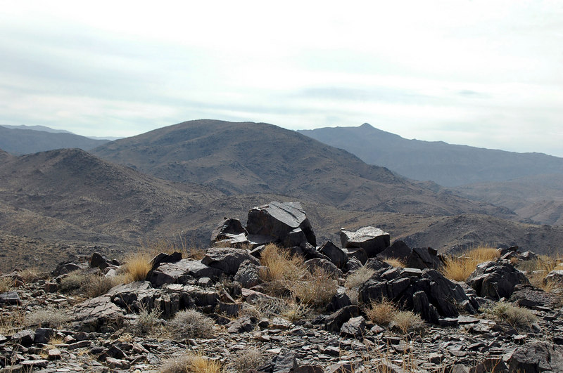 The pointy peak in the distance is Monument Mountain to the south.