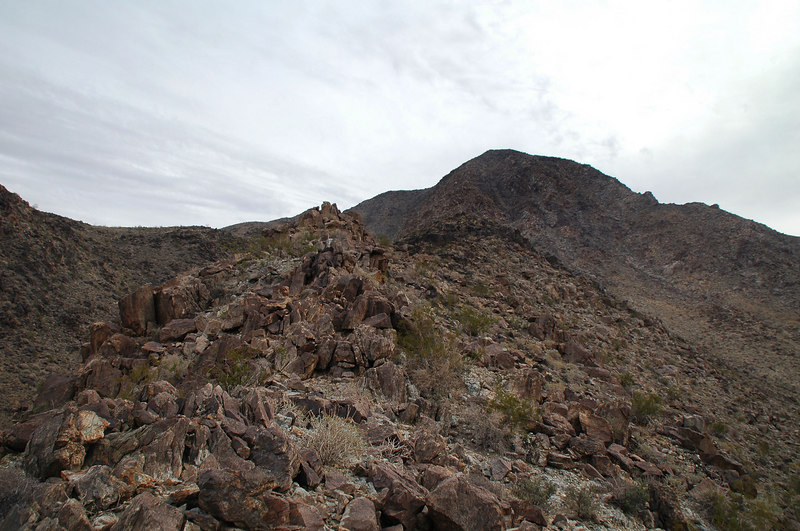 Hiking up the ridge was fairly easy with the occasional rock pile to get around.