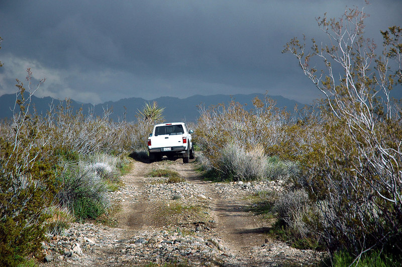 Following Bruce on the Pinkham Canyon Jeep Trail back to the Cottonwood Campground.