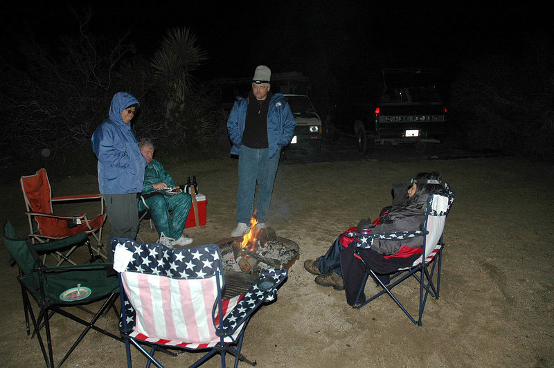 Hanging out around the campfire after dinner. Juliet brought a great tasting cake for Ron's birthday. Bruce and Gabriella headed home a short time later. <br /> <br /> THE END