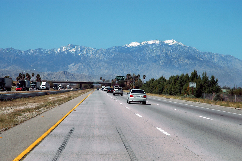 View of San Jacinto Peak from the I-10. The hike ended up totaling about nine miles with a 2,500 foot gain.<br /> <br /> THE END