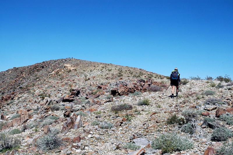 Approaching the peak.