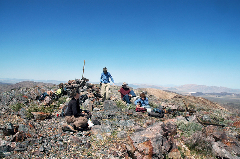 The group on Pinto Mountain at 3983 feet.