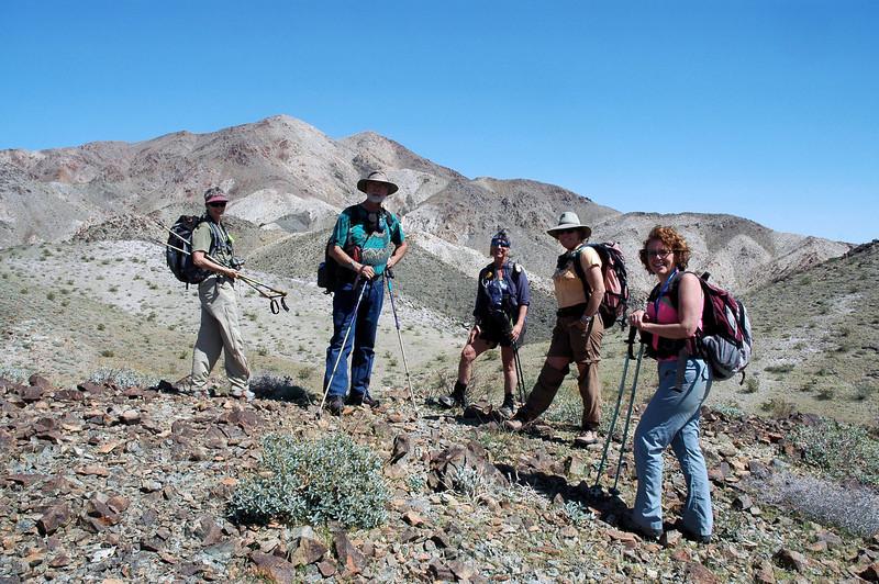 Robin, Erick, Sooz, Rachel and Kathy about half way up the mountain.