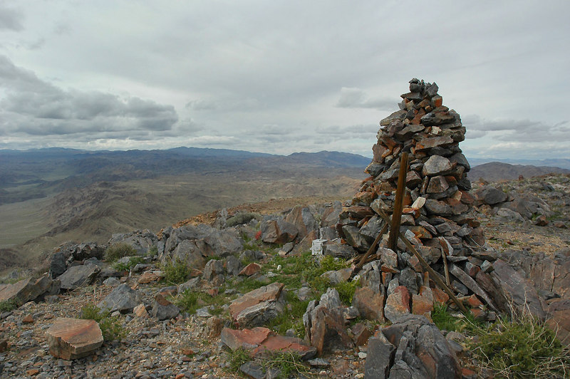 On the summit of Pinto Mountain at 3,983 feet.