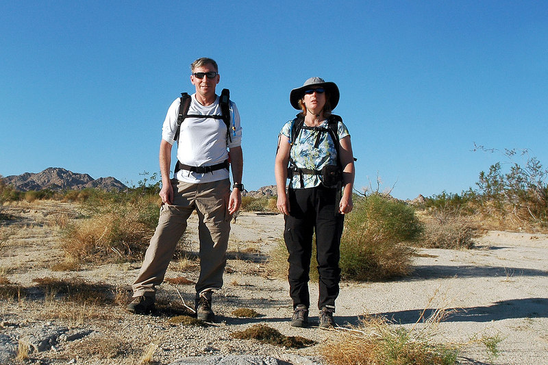 Kathy and me, Joe that the starting point for our hike to Spectre.