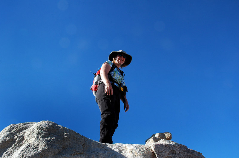Kathy standing on Spectre's peak, 4,400+'.