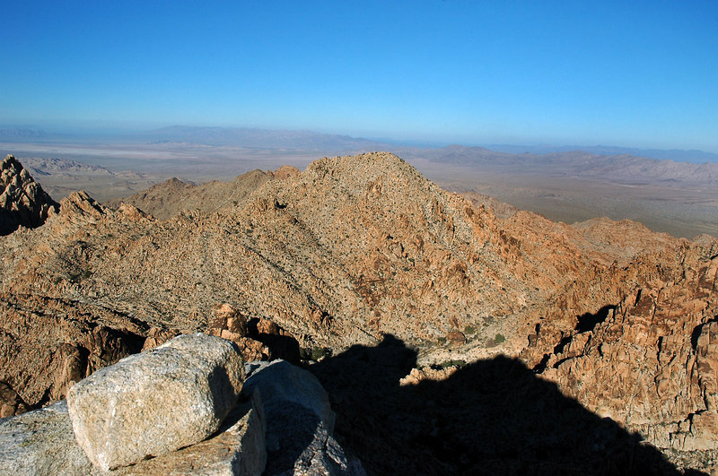 Tensor Peak to the north.