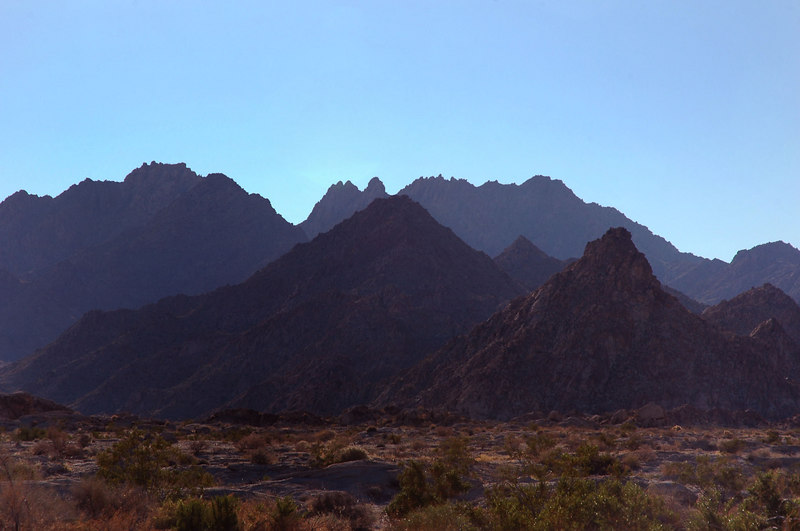 Some of the peaks to the east.