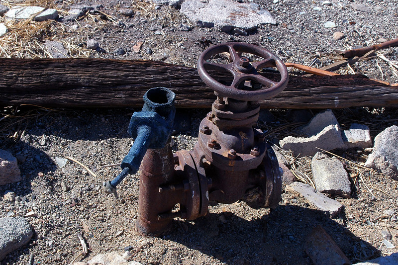 This must be the wellhead. It smelled like rotten eggs.