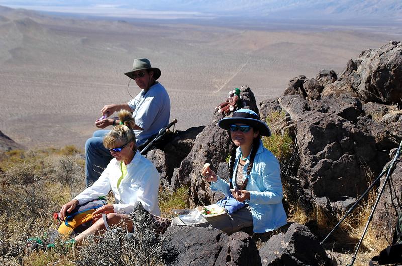 We took a break on the peak just before reaching Klinker.