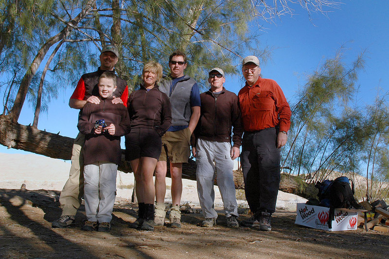 The group that arrived at camp Friday night. Scott with son Lucas, Sooz, John, Joe (me) and Frank.