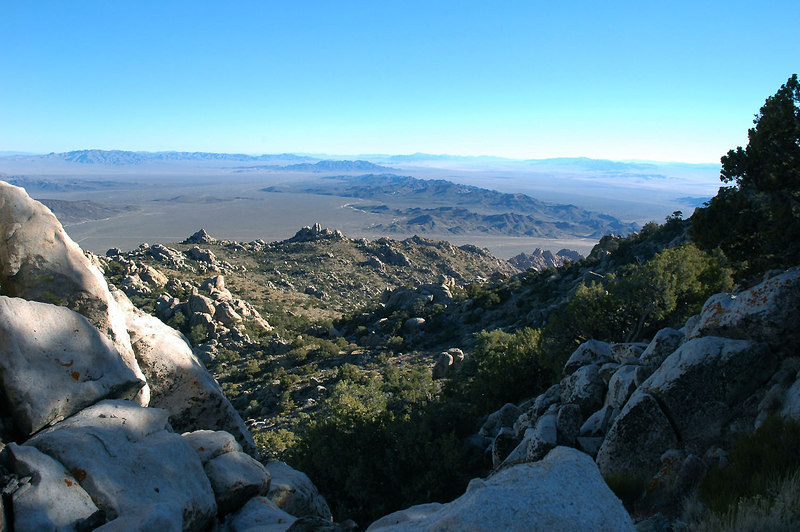 A view to the east, almost to the summit.