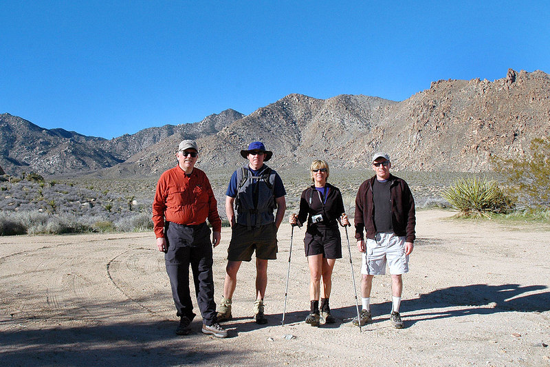 Frank, John, Sooz and me, Joe at the trailhead for the hike to Granite Mountain. Kathy started off about half hour before us.