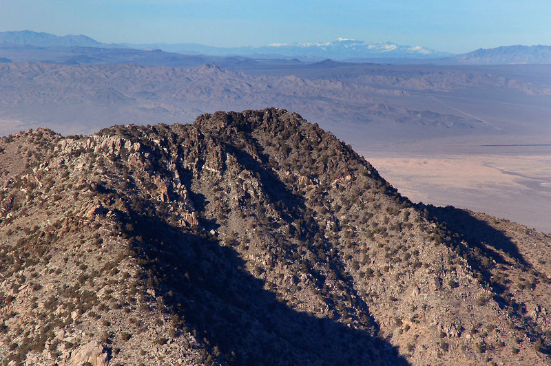Zoomed in on Silver Peak. I think that is Telescope Peak in the distance, but I might be wrong.