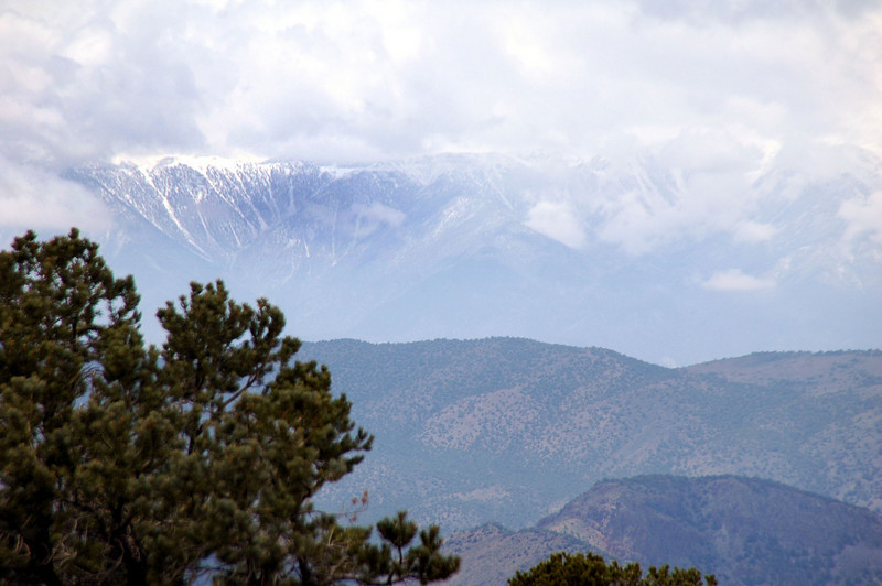 Zoomed in on the White Mountains.