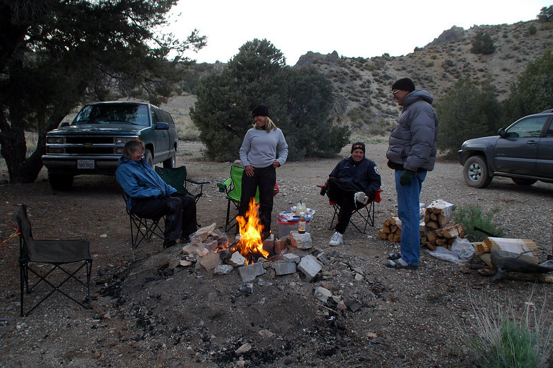 At our new camp at an old mining site.