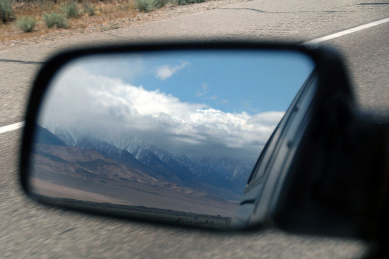 The Sierra Mountains in the mirror as I head up Hwy 395 on my way to the Silver Peak Range in Nevada. This five day trip was planned to help Sooz celebrate her upcoming birthday.