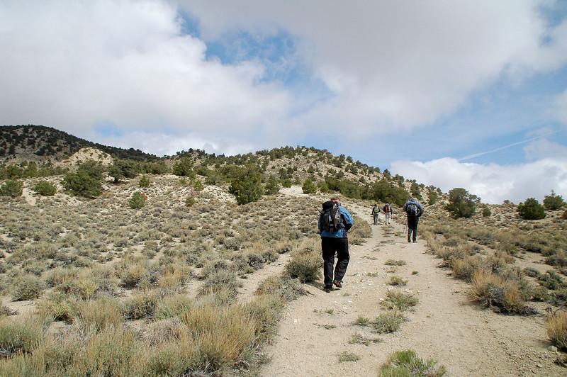 Starting off on the hike to Rhyolite Ridge.