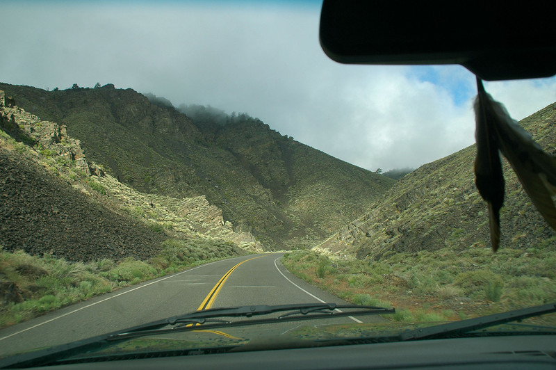 On Hwy 168. White Mountains on the right, Inyo Mountains on the left.