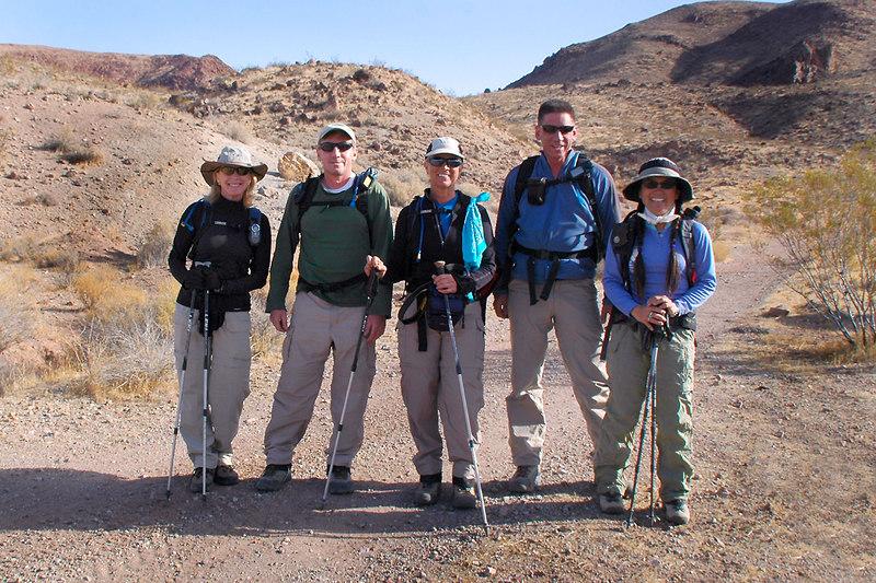 Norma, Joe(me), Sooz, Tom and Cori ready for the hike.