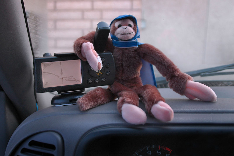 "My monkey ready for the drive home. A short video showing the Screaming Flying Monkey in action can be seen here  <a href=""http://outdoors.webshots.com/video/3009989200053150505"">http://outdoors.webshots.com/video/3009989200053150505</a>  If the video doesn't run steady the first try, it will the second time."