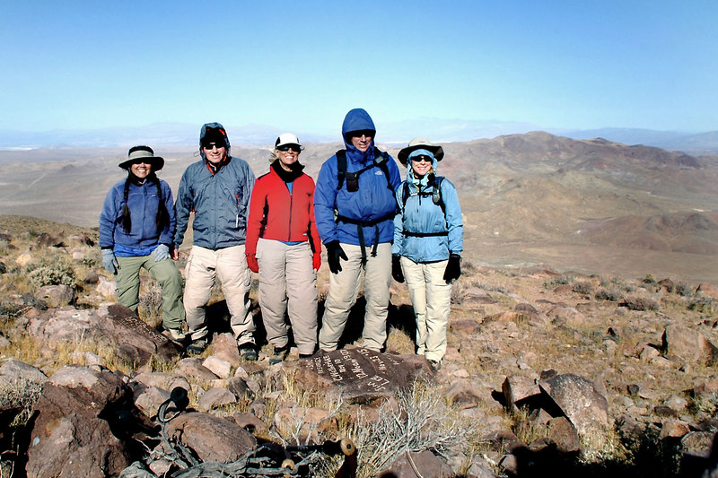 Group shot on the summit at 5,261 feet.