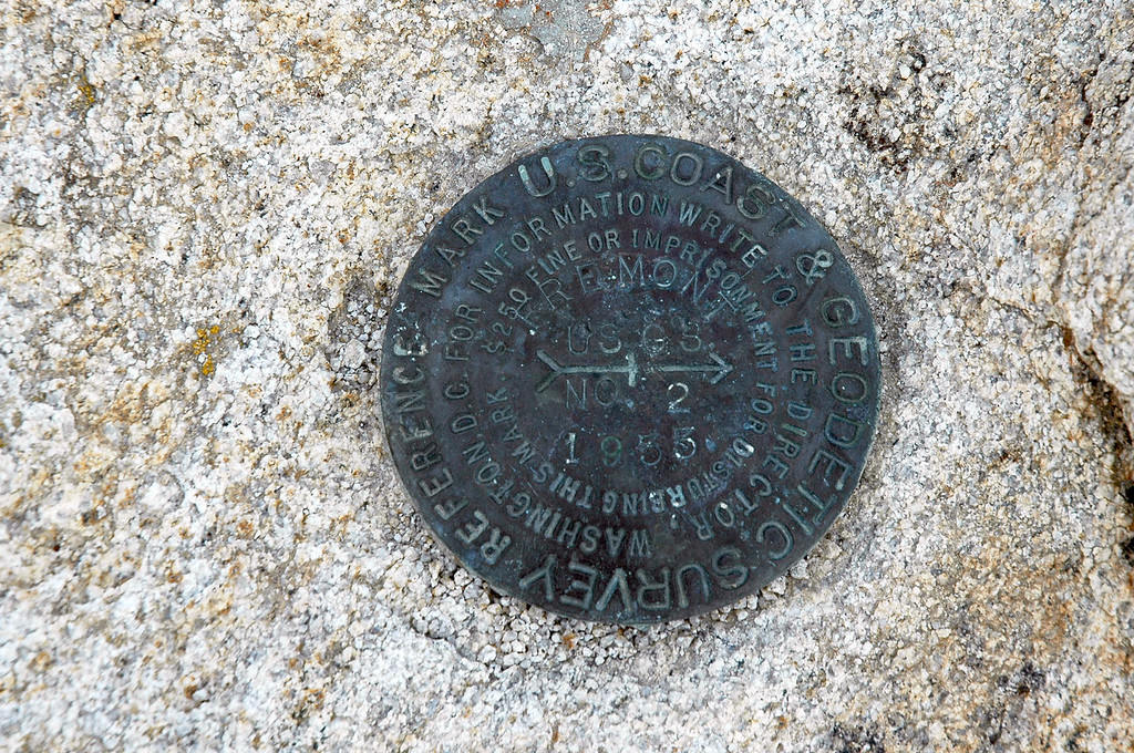 Marker on the peak.